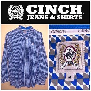 Medium Blue-Gray Cinch LS Pattern Shirt